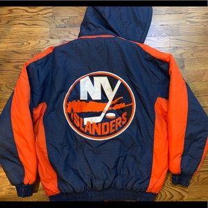 Vintage New York Islanders Winter Coat NHL Hooded